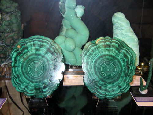 Malachite slices