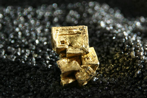 Gold crystals from Joe's Gully, NSW