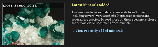 Latest Minerals Added