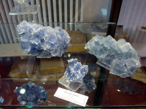 Fluorites from Le Burg, France