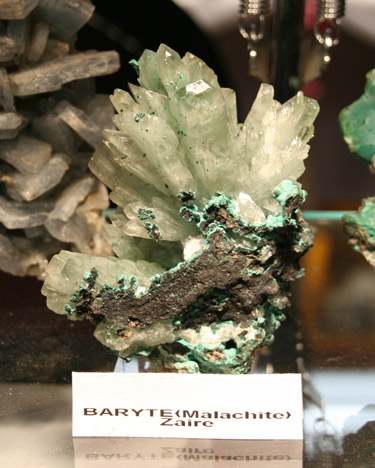 Baryte and Malachite from Zaire