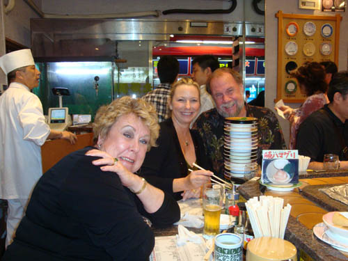 Dona, Lois, Wayne at sushi
