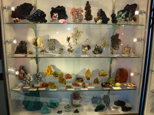 Minerals on display