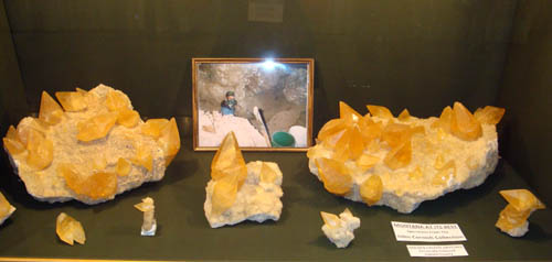 Golden Calcite from Montana