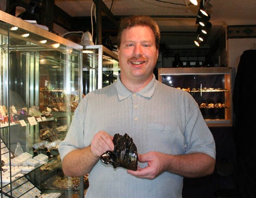 Scott holds the Fulgurite