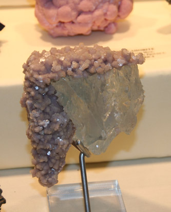 Lepidolite on Topaz, Xanda Mine, Brazil