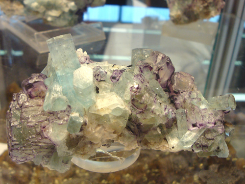 Aquamarine and Fluorite from the Erongo Region, Namibia