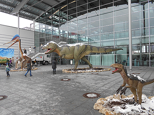 snow, dinosaurs munich