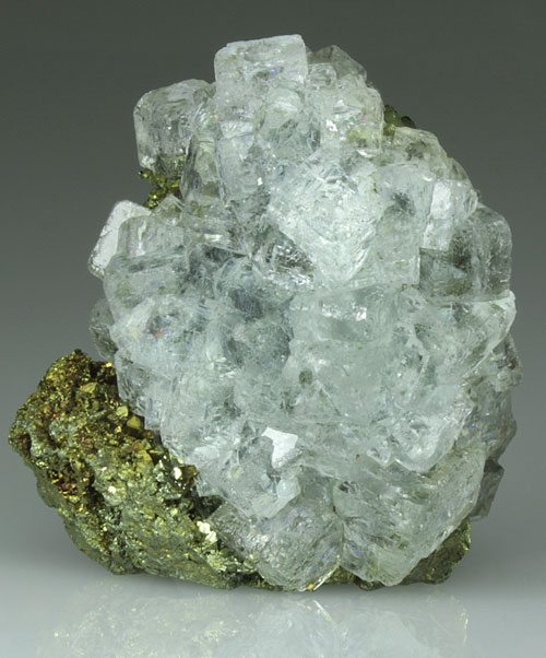 Fluorite on Chalcopyrite - Cornwall