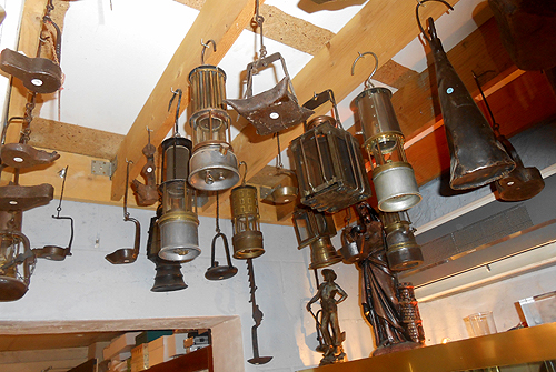 Miners lamps in Gilles' Emringer collection