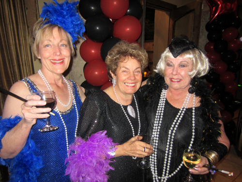 ... Dick Bideaux's sister) and Dona in their dazzling flapper dresses