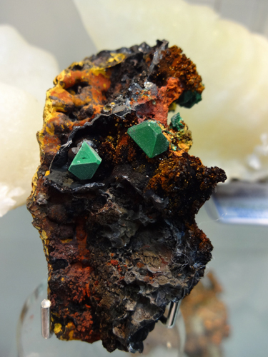 Malachite Pseudomorph after Cuprite, Hilarion Mine