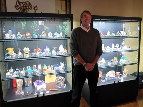 Kevin Brown and his collection