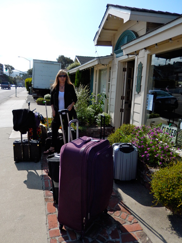 Lois Nelson with the Luggage
