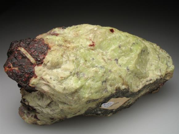 Glaucochroite With Franklinite and Zincite