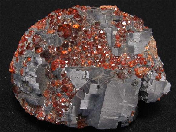 Garnet Var Spessartine on Galena
