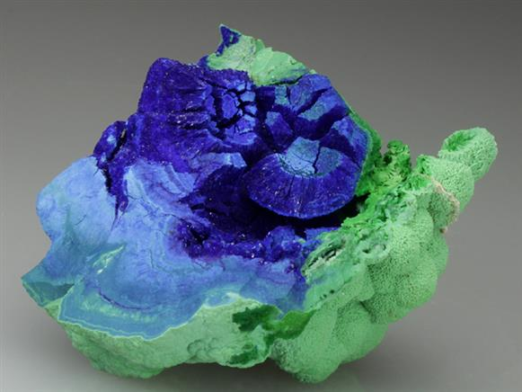 Azurite With Conichalcite