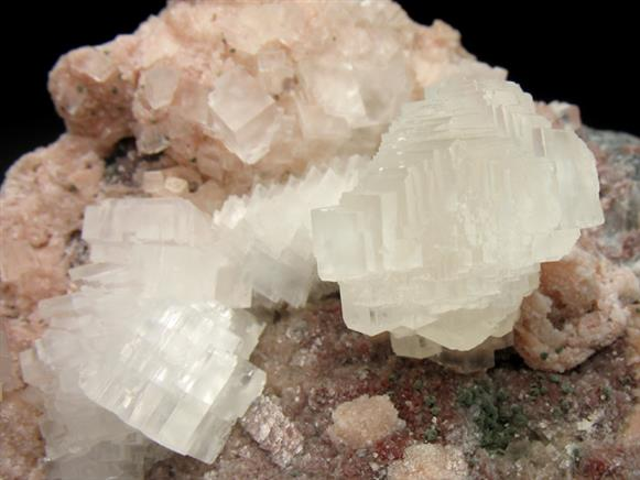 Calcite on Cobaltoan Dolomite