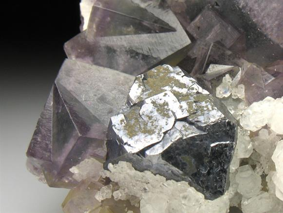 Fluorite With Galena and Calcite
