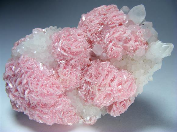 Rhodochrosite, Quartz and Calcite