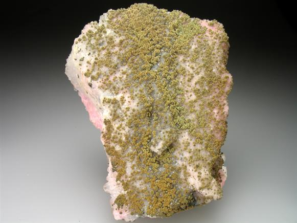 Rhodochrosite With Quartz and Chalcopyrite