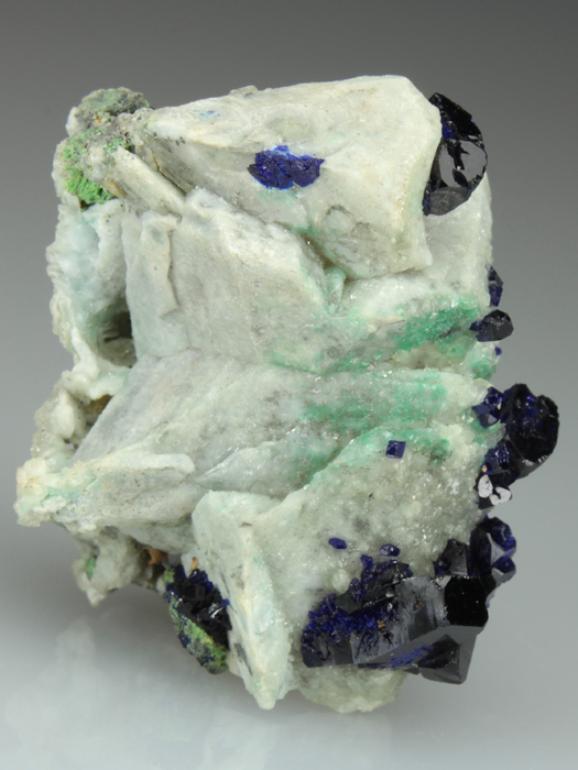 Azurite on Cerussite