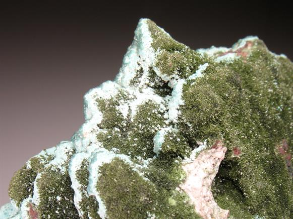 Smithsonite on Serpierite With Olivenite