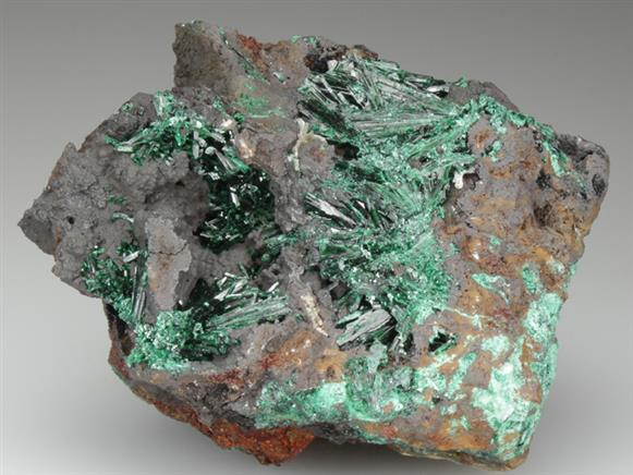 Malachite on Limonite