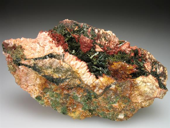 Olivenite and Malachite