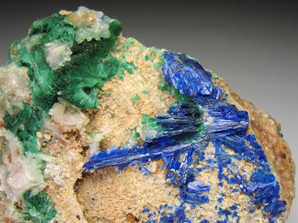Linarite and Malachite