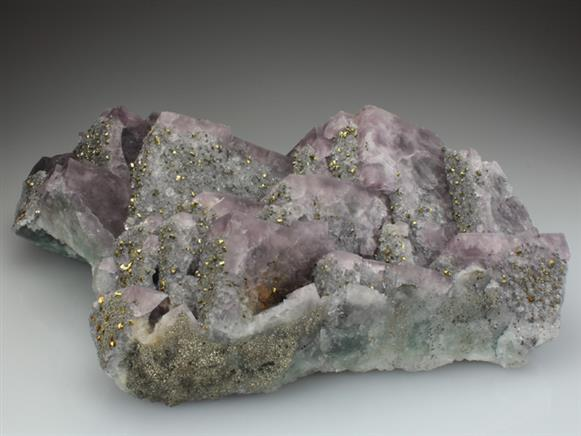 Fluorite With Chalcopyrite