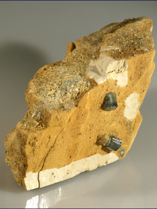 Apatite on Feldspar