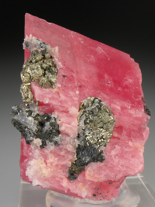 Rhodochrosite With Pyrite