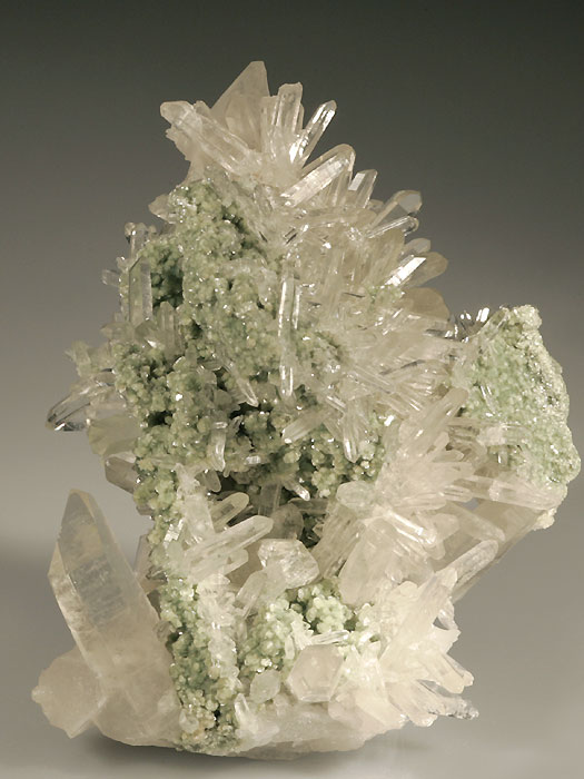 Quartz on Fuchsite
