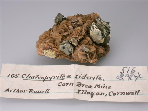 Chalcopyrite and Siderite
