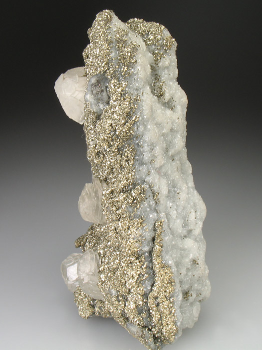Pyrite With Calcite