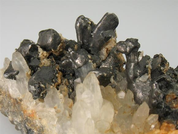 Hessite on Quartz