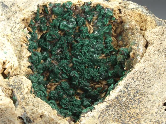Goethite After Chalcopyrite Coated By Malachite
