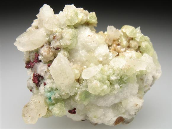 Aragonite, Calcite, & Dolomite With Cuprite