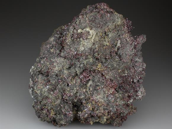 Proustite With Xanthoconite and Polybasite