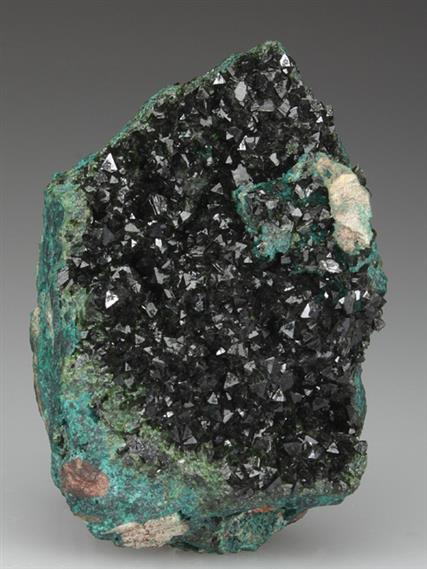 Libethenite with Pseudomalachite