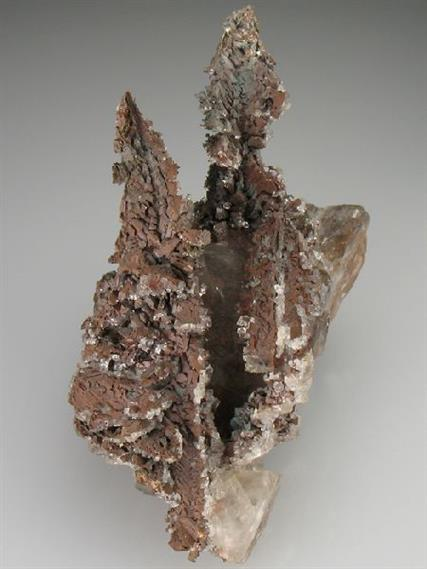 Native Copper on Calcite