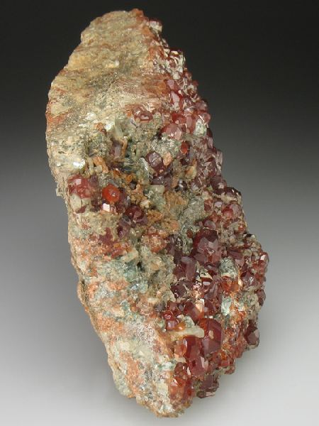 Grossular Garnet Var Hessonite With Clinochlore