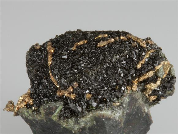 Native Silver on Olivenite