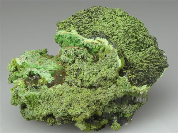 Conichalcite Crystals Tipped By Tangeite Crystals