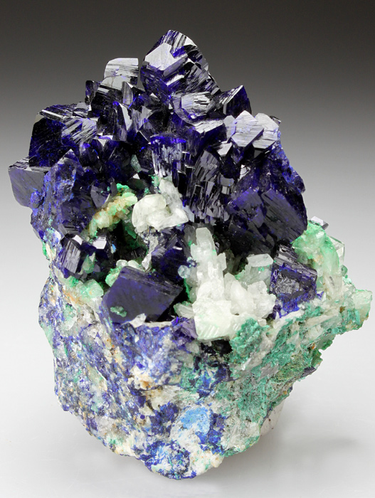 Azurite With Cerussite and Arsentsumebite