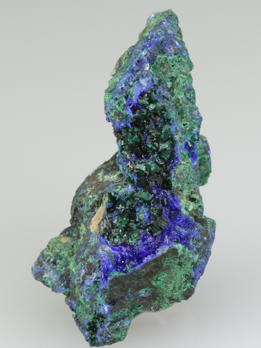 Linarite on Brochantite