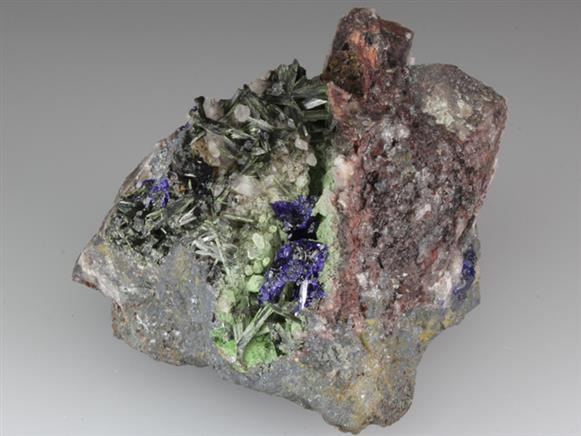 Olivenite With Azurite