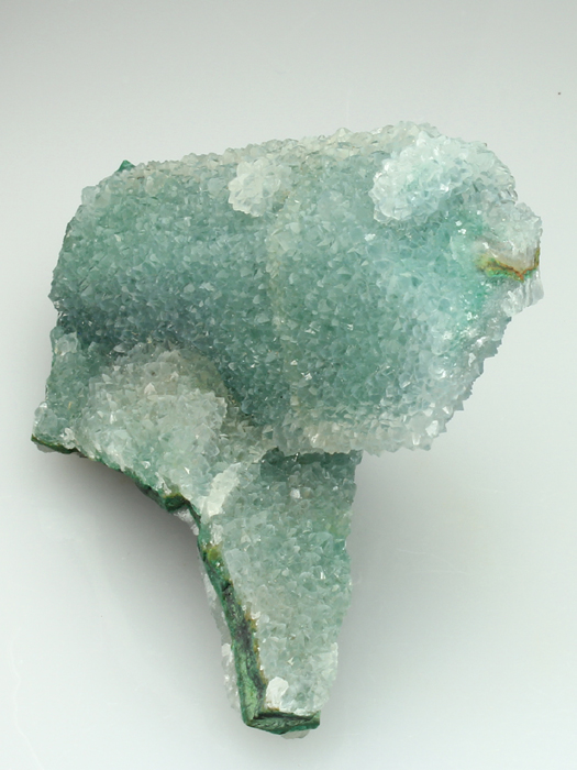 Quartz on Malachite After Azurite