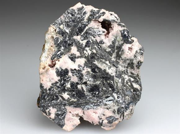 Nagyagite and Rhodochrosite